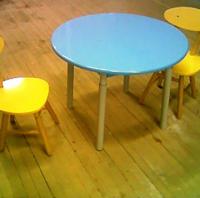 Стол с круглой столешницей